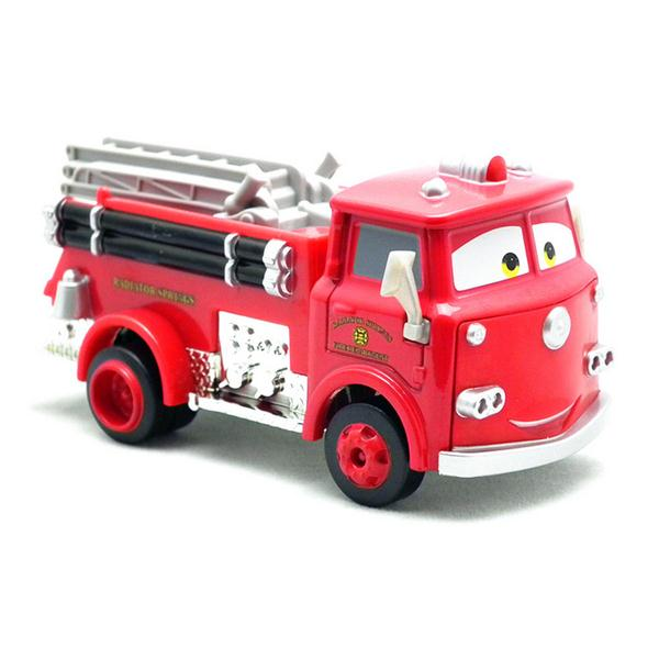 DISNEY Lightning McQueen selling Pixar Cars 2 Red Firetruck Deluxe Fire Truck Metal Toy Car Loose Diecast 1:55 for Kids Children(China (Mainland))