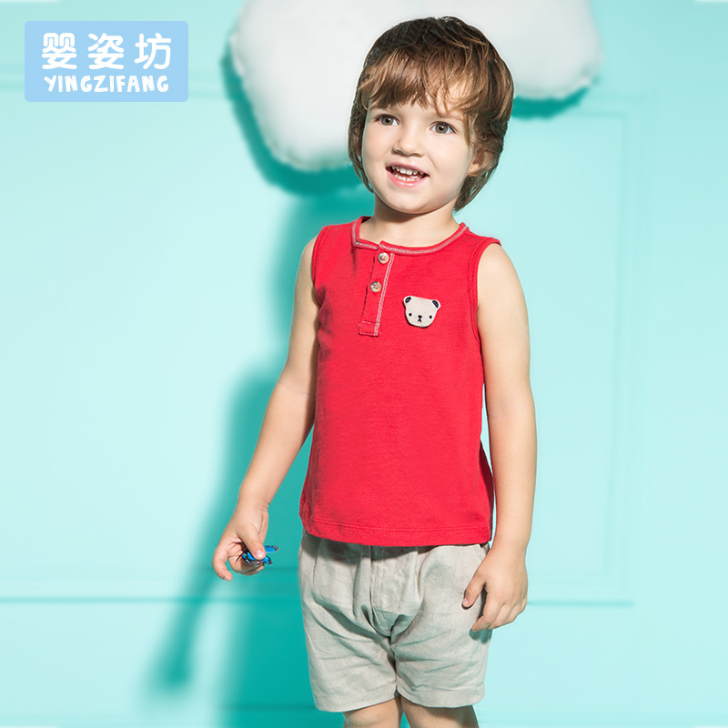 2016 Summer Style Baby Boys Girls Clothing Set Sleeveless T-shirt + Pant 2pcs/Set Kids Cotton Clothes Set(China (Mainland))