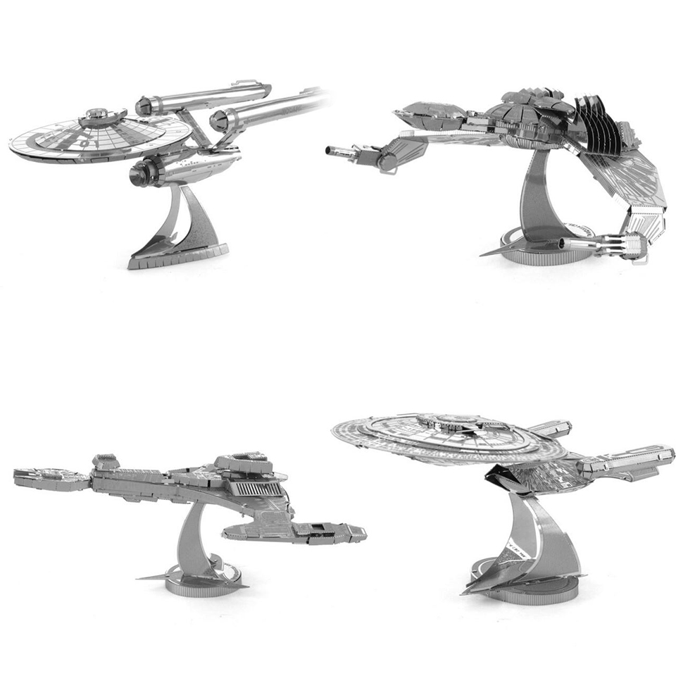 star wars Etching Enterprise uss Trek Space ship 3D metal model Enterprise NCC1701 action figure DIY collection model kids toys(China (Mainland))