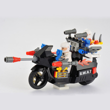 New Interlocking Bricks RC Motorcycle Electric Remote Control Charge Car Toys Puzzle Assembly Educational Toy Best Gifts(China (Mainland))