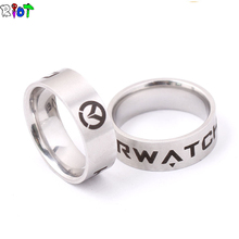 Buy New Arrive Game Overwatch Ring Men women jewelry Rings Stainless Steel bague Holder US Size 8# 9# 10# 11# Dropshipping gift for $1.14 in AliExpress store
