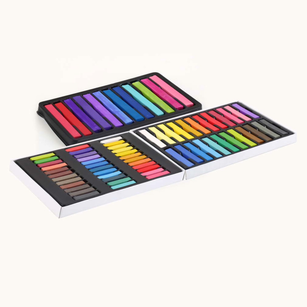 Hot Selling 1 set 24 Colors Non-toxic Temporary Pastel Hair Square Hair Dye Color Chalk