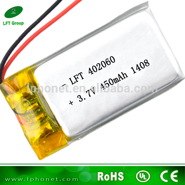 402060 china best price battery cell 3.7v 450mah li-polymer battery with PCB and wire(China (Mainland))
