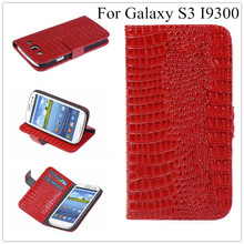 Luxury S3 Crocodile Leather Wallet Case For Samsung I9301 Galaxy S3 Neo S3 Duos GT-I9300i I9300 S III Stand Cover + Free Film(China (Mainland))
