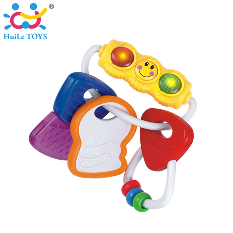 Hard/Soft Teething Keys Baby Teether Toy Appease Infant Teething Period Baby Rattle Keys BPA-free Music Toys For Baby Kids Gift(China (Mainland))