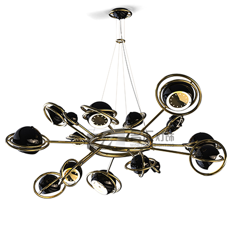 sale galaxies black and white color led chandelier light pendant lamp