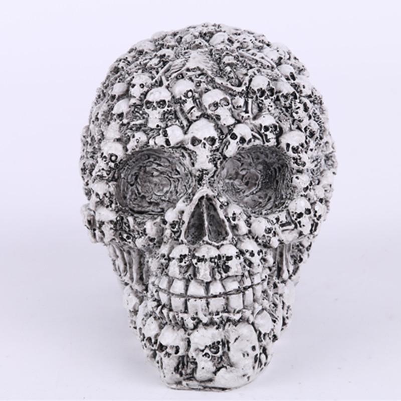 New Hot Sale Homosapiens Skull Statue Figurine Human Skeleton Head Medical Skeleton Creative Gift Home Decorations(China (Mainland))