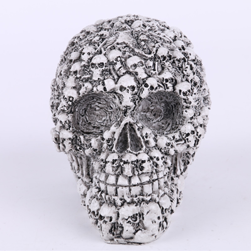 New Hot Sale Homosapiens Skull Statue Figurine Human Skeleton Head Medical Skeleton Creative Gift Home Decorations(China (Mainland))