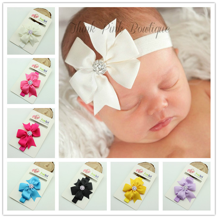 baby ribbon bow headband kids hairwear head bands butterfly bow bands children accessories(China (Mainland))