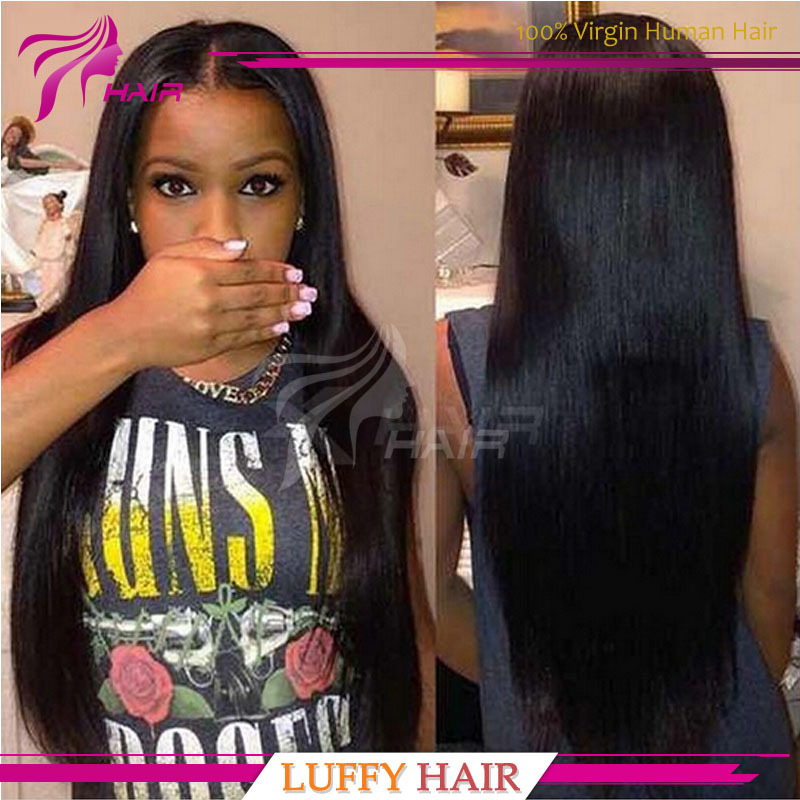Full Lace Human Hair Wigs Peruvian Virgin Hair Straight Virgin Full Lace wig and front Lace Human Hair Wigs For Black Women(China (Mainland))