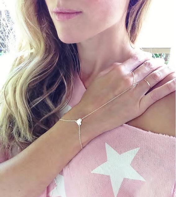 Infinity Slave Bracelet Hand Chain Finger Bracelet Gold Hand Bracelet Birthday Gift(China (Mainland))