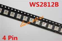 10/50/100 PCS WS2812B (4pins) 5050 SMD W/ WS2811 Individually Addressable Digital RGB LED Chip FREE SHIPPING(China (Mainland))