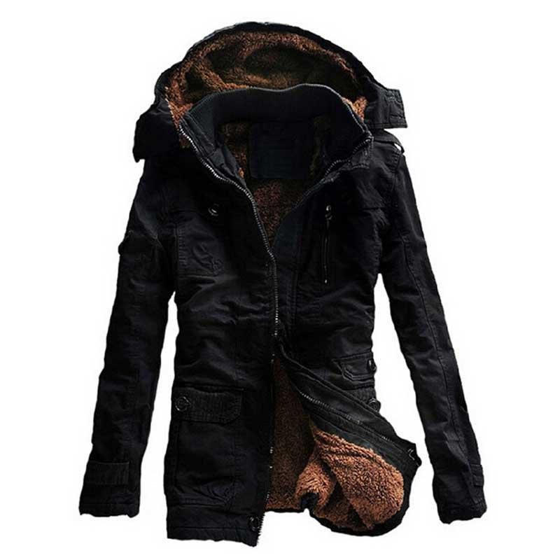 2015 New Fashion Men's Fleece Faux Fur Winter Coat Hoodies Parka Overcoat Jacket lowest price