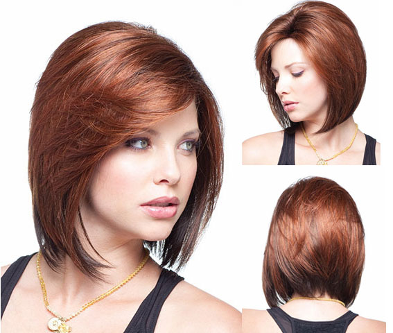 Free Shipping Women Short Straight Wigs Fashion Red Side Bangs Short Wigs Lady Synthetic Hair Wigs for Black Women BOB short wig(China (Mainland))
