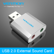 Buy Vention Free Drive USB 2.0 External Sound Card Audio Sound Card USB External Computer Sound Card for Windows/Linux/ Mac for $5.24 in AliExpress store