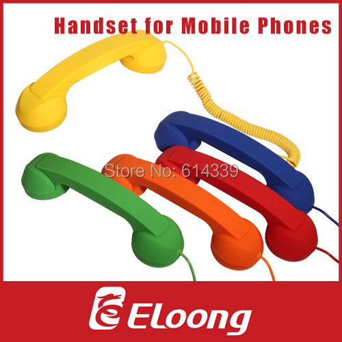 Eloong Retro Phone Telephone Handset For iPhone / HTC / Samsung PC Portable Classic Headphone FREE SHIPPING P016(China (Mainland))
