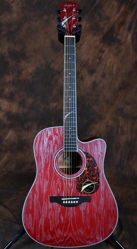 red acoustic guitar 41in full manchurian ash wood(China (Mainland))