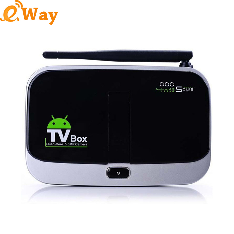 Genuine CS918S Android 5.1 set top box 2MP Camera Mic RK3368 octa core 1G/8G XBMC networking Media Player HDMI TV Receiver(China (Mainland))