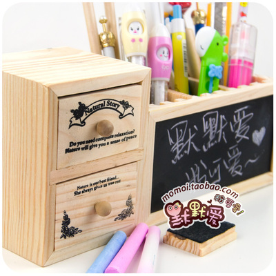Buy fashion creative cute wood desk - Cute desk organizer ...