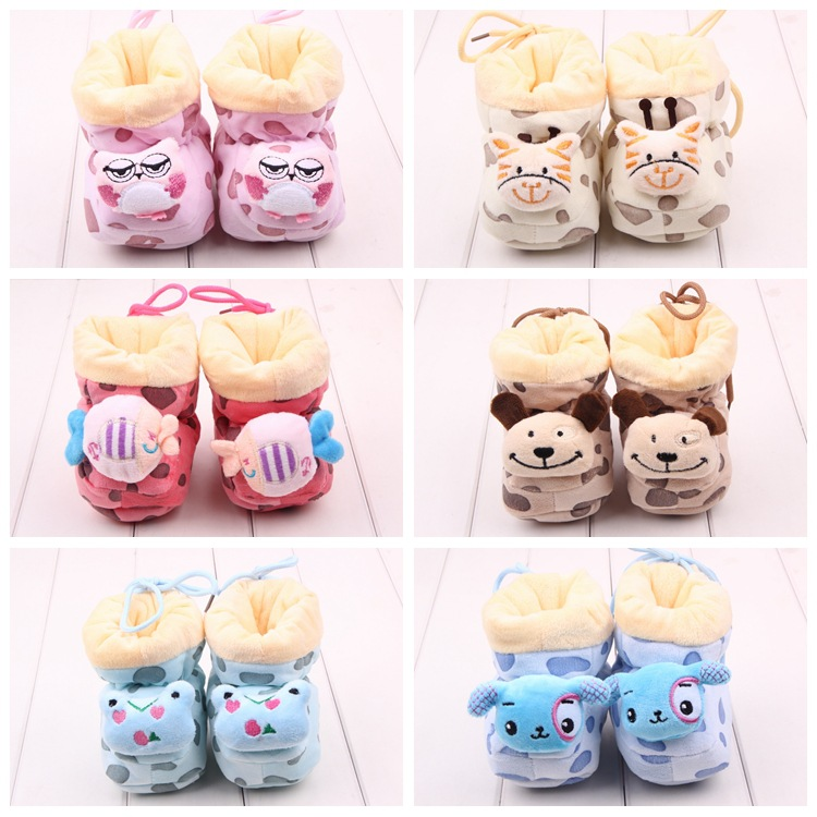 God & Cat Doll Shoes Baby Winter Foot Wear Infant Boots Toddler Prewalker Newborn Shoes In Winther Free Shipping!(China (Mainland))