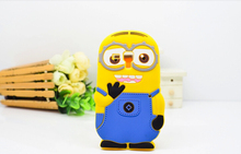 Cute Minions Back Cover Case For Samsung GALAXY Trend Duos S7562 7562 \ Galaxy S Duos 2 S7582 \ Trend Plus S7580 Silicone Cases(China (Mainland))