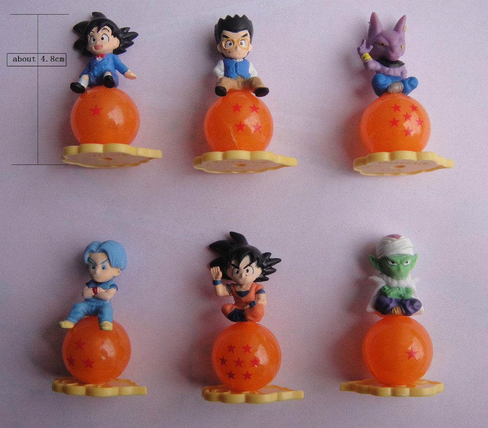 100pcs/lot dragon ball pvc Figure Toy , kid child birthday gift, play house toys, action collection figure(China (Mainland))