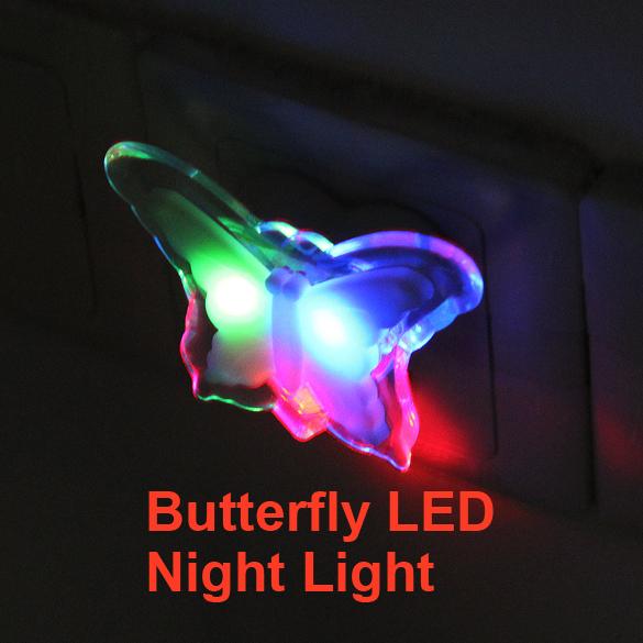 Lovely Butterfly Home Novelty Energy Saving Bedside LED Night Lamp Light<br><br>Aliexpress