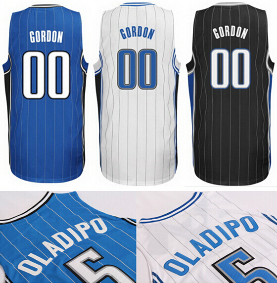2014 NWT New White Blue Black 00 Aaron Gordon Jersey Stitched Best Quality 5 Victor Oladipo Basketball Jersey Shop,Free Shipping(China (Mainland))