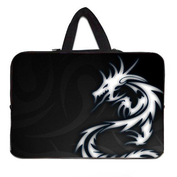 "15"" Dragon Notebook Zipper Neoprene Liner Case Bags For Dell ASUS Acer Toshiba 15.4 15.6 Inch Mini PC Computer Men's Laptop Bag(China (Mainland))"