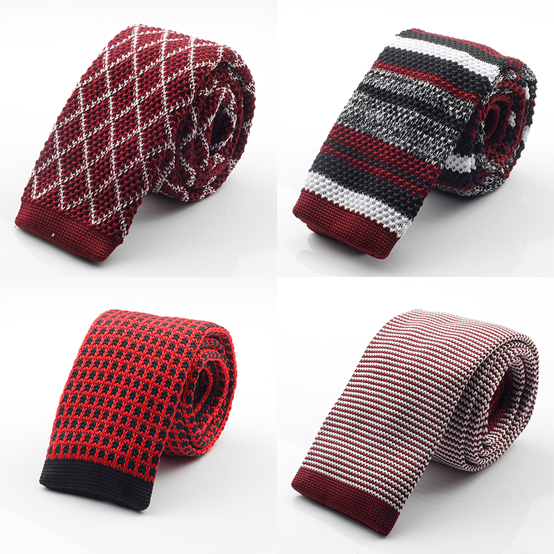 New Fashion Male Brand Slim Designer Mens Knitted Neck Ties Cravate Narrow Skinny Neckties For Men(China (Mainland))