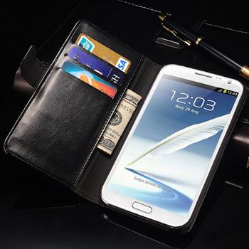 Luksusowe etui dla Samsung Galaxy Note 2 II N7100 | portfel z funkcją stojaka