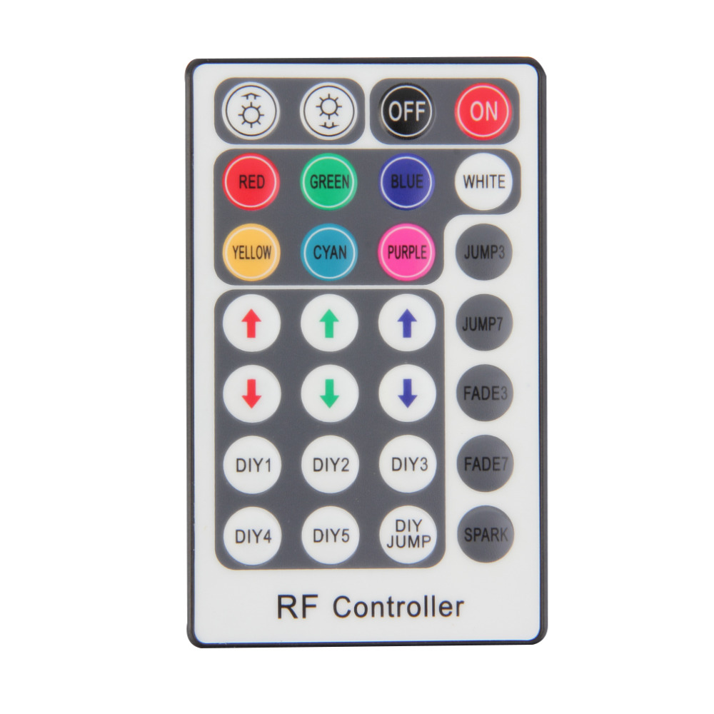 Hot Lighting Accessories RGB Controler RF Wireless Remote 28 Keys 12-24V 3 Channels LED Controller for RGB LED Strips Light New(China (Mainland))