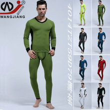 The Men Underwear Fashion Color V Collar Waist Slim Thin Cotton Underwear Suits Autumn 4014tz(China (Mainland))