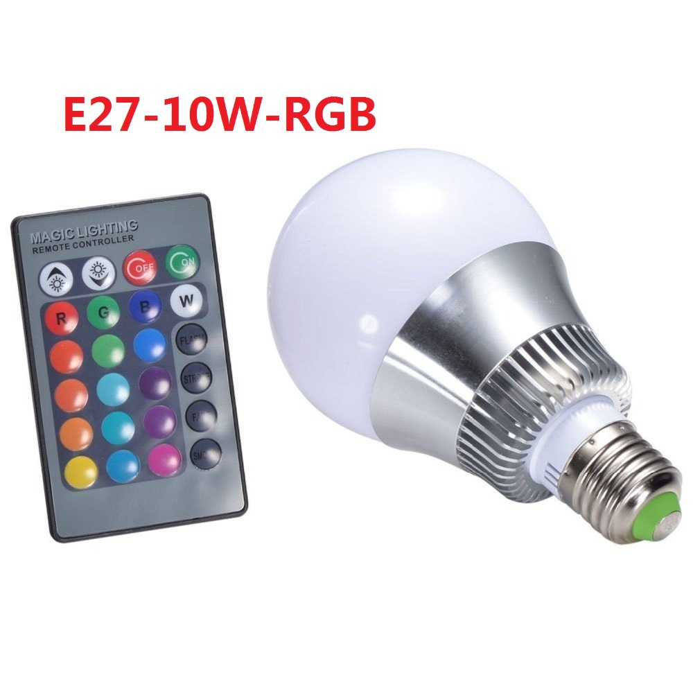 Free ship 1pcs/lot High Qulity 10W 15W E27 RGB LED Bulb 16 Color Change E27 RGB Lamp spotlight 85-265v with Remote control<br><br>Aliexpress