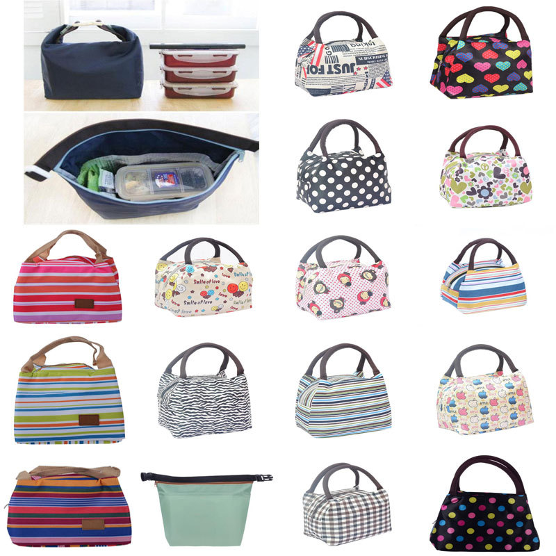 Canvas Thermal Insulated Lunch Bag Lancheira Termica Kids Baby Lunchbox Neoprene Totel Lunch Bag Picnic Bolsa Termica Alimentos(China (Mainland))