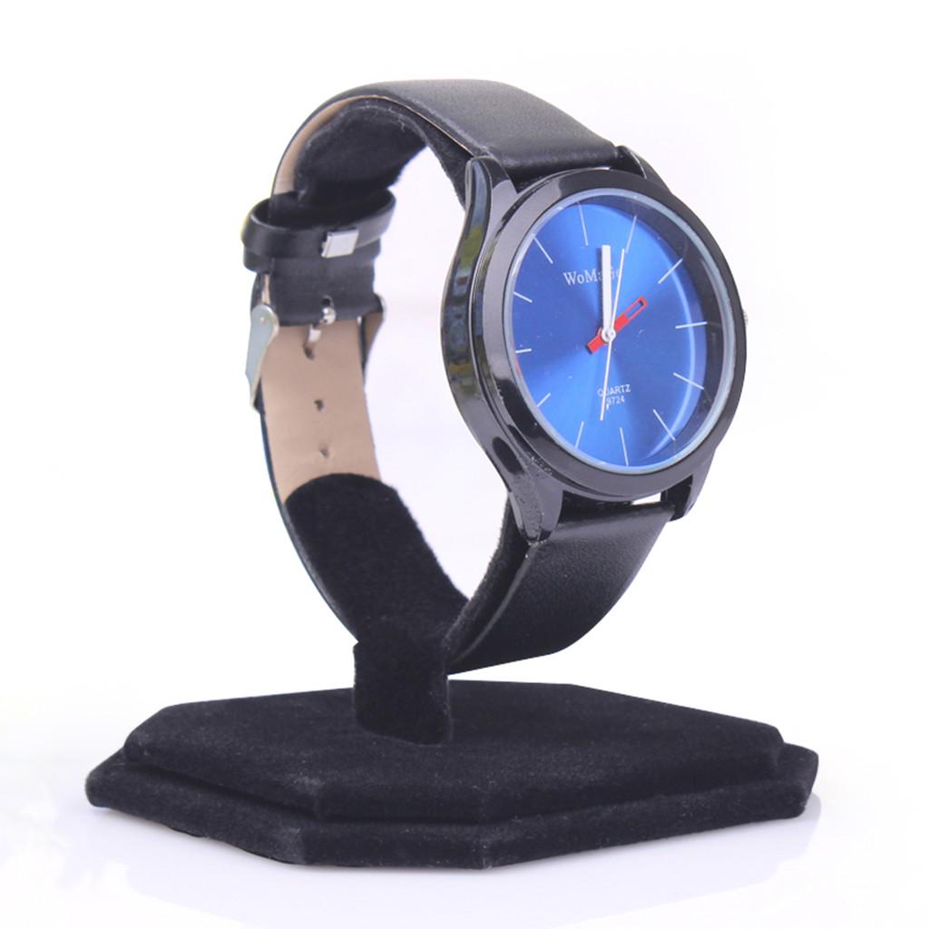 5pcs Black Velvet Watch Bracelet Jewelry Showcase Display Stand Holder Rack