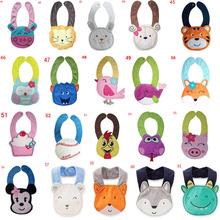 Unisex Baby Girl Boy Bibs Toddler Kids Animals Cotton Saliva Towel Waterproof Infant Bibs Burp Cloths A41-60