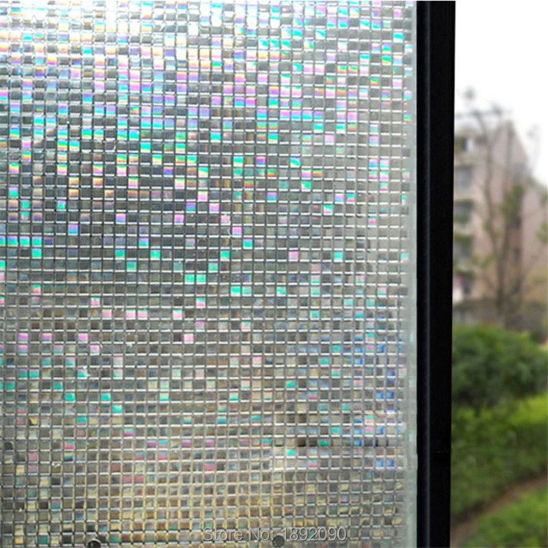 Opaque privacy static cling glass window film home decor for Stickers fenetre opaque