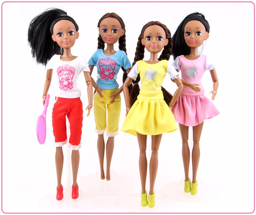 Abbie Bicycle Black Pores and skin Doll Equipment 14-Joint Physique Design Toys Trend Dolls Greatest New Christmas Presents for barbie