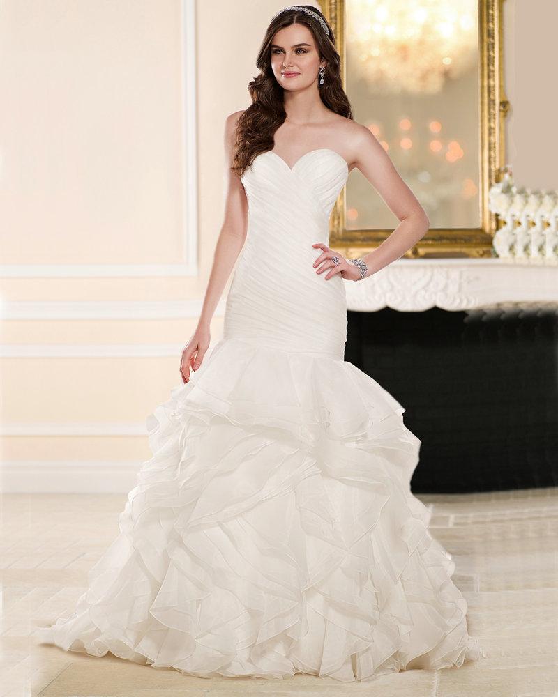 Vestidos de novia ivory organza pleats ruffle cheap for Cheap wedding dresses made in china