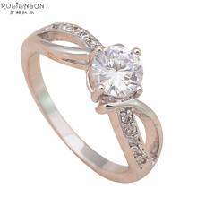 Design Nobby Fashion Jewelry 18K Gold Plated Health K Plating Crystal Zircon Element Ring sz #6.75 #5.5 JR1649 - TaoLiHao Ltd. store