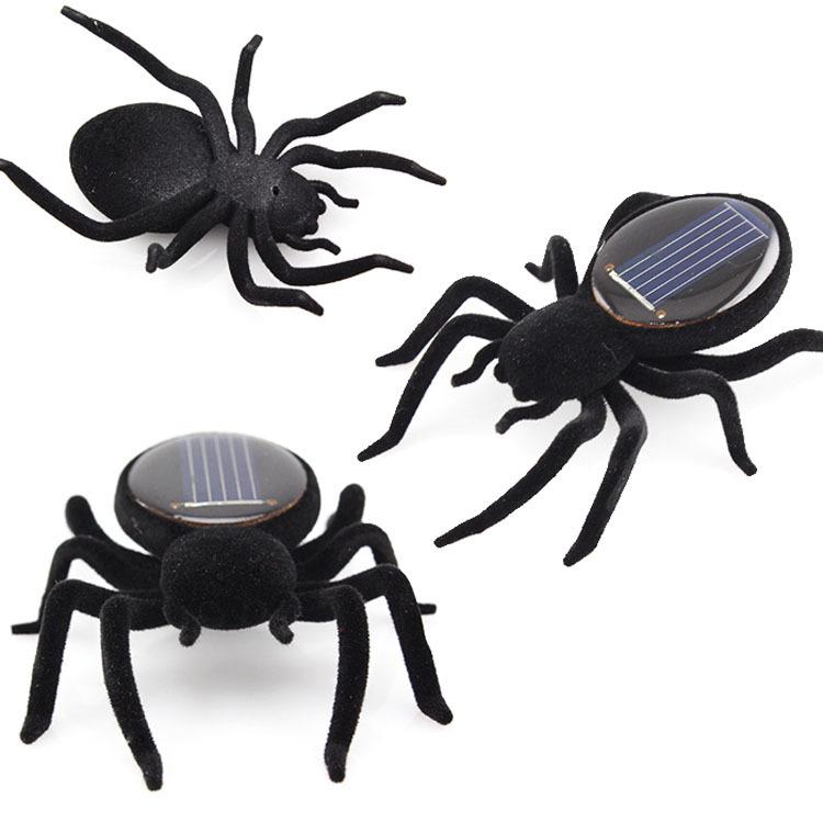 Mini Solar Black Spider Robot For Fun/Gift/Educational Tool(China (Mainland))