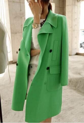 Pea Green Coat - Sm Coats
