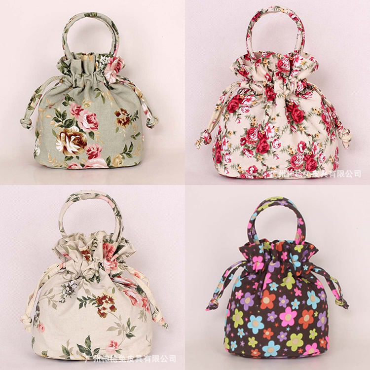 Crosia Flower Designs Bags : ... flower printing design tote bag Canvas cute handbag-in Top-Handle Bags