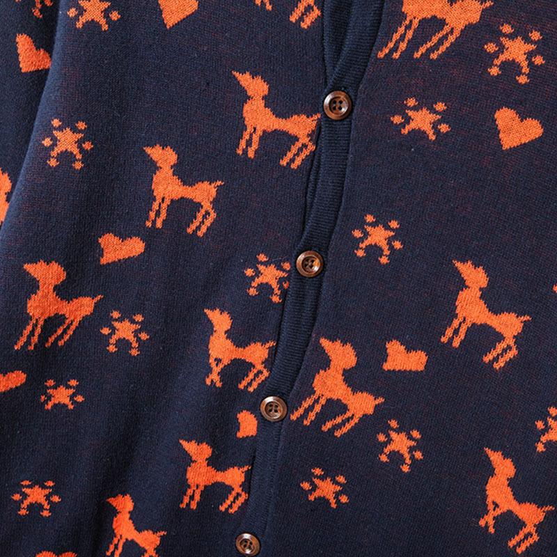 2015 Brand New couple christmas sweaters men women ugly christmas deer sweater thickening fleece lovers deer
