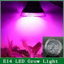 Full spectrum LED Grow light 18 W E14 / E27 / GU10 LED crece la lámpara del bulbo para plantas de flores sistema de la ca 85 V 110 V 265 V Grow caja(China (Mainland))