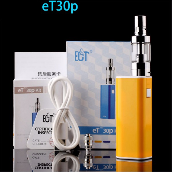 ถูก ECT et30pชุดบุหรี่อิเล็กทรอนิกส์กล่องสมัย10วัตต์20วัตต์30วัตต์varaibable E cigการควบคุมการไหลของอากาศมินิหมอก2200มิลลิแอมป์ชั่วโมงบุหรี่อิเล็กทรอนิกส์vaporizer