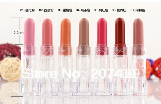 7 sweet color option makeup mini professional comestics lip gloss Lipsticks balm care Gorgeous beauty