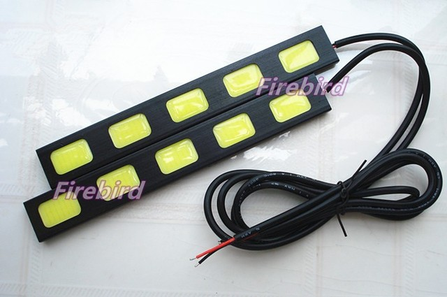 10W high power 5COB*2 led DRL daytime running lights, cold white black aluminum fog lights, driving lights, E4 waterproof