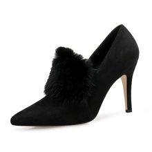 Yarım çizmeler Kadınlar Için yüksek topuklu ayakkabı Sonbahar Çizmeler Seksi Leopar Baskı Kadın Çizmeler Sivri Burun rahat ayakkabılar Slip-On Artı Boyutu DE(China)
